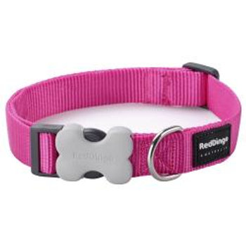 Red Dingo Classic Dog Collar 15mm (Hot Pink)