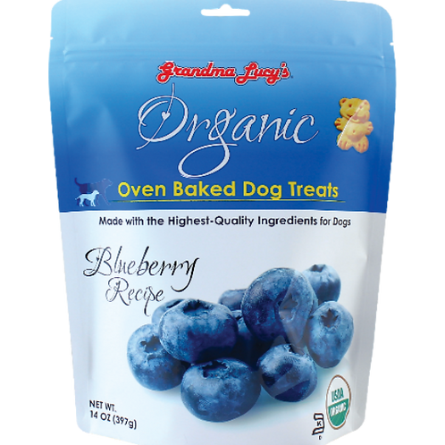Grandma Lucy's Organic Oven Baked Dog Treats (Blueberry) 14Oz