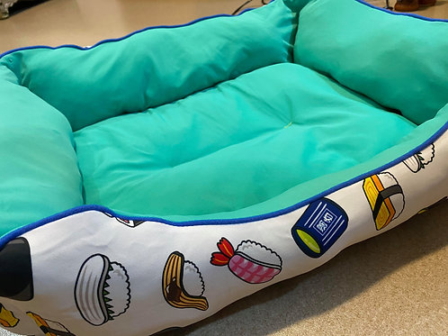 Japanese Sushi Pet Bed (50cm x 48cm) - Green / Blue