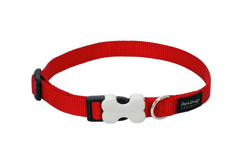 Red Dingo Classic Dog Collar 15mm (Red)