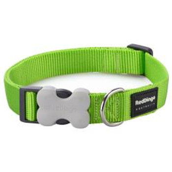 Red Dingo Classic Dog Collar Small 12mm (Lime Green)