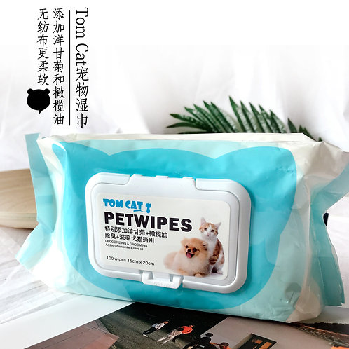 Tom Cat Pet Wipes (100 wipes)