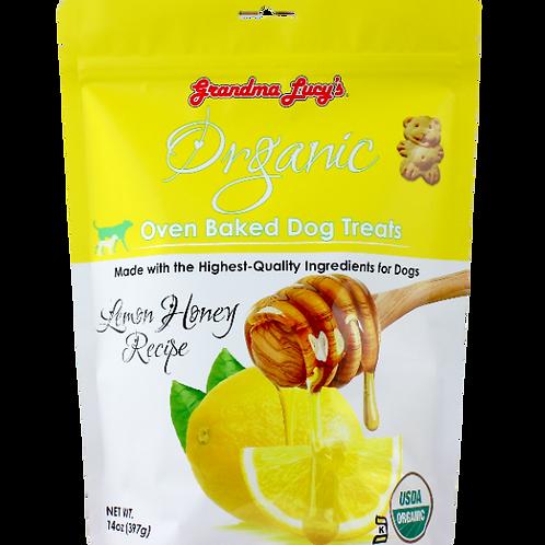 Grandma Lucy's Organic Oven Baked Dog Treats (Lemon Honey) 14Oz