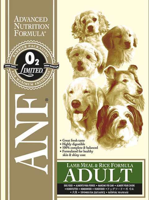 ANF Lamb Meal and Rice Formula for Dogs 3kg