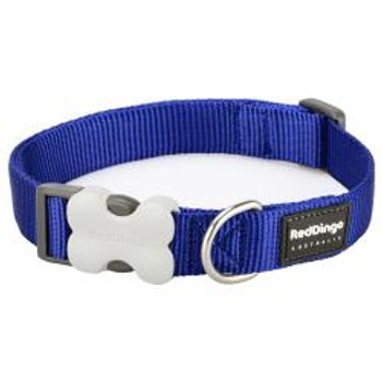 Red Dingo Classic Dog Collar 15mm (Blue)