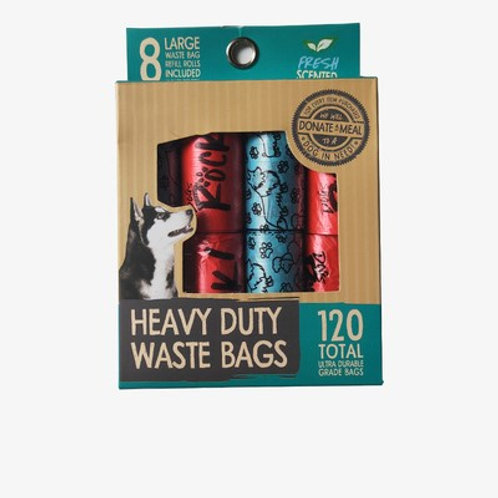 Dogs Rock Heavy Duty Poop Bag (8 Rolls)