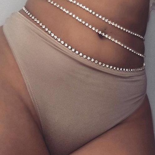 Belly Chain Rhinestone Body Chain Waist Chain