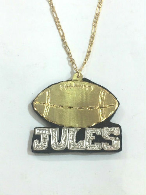 Football Nameplate Necklace