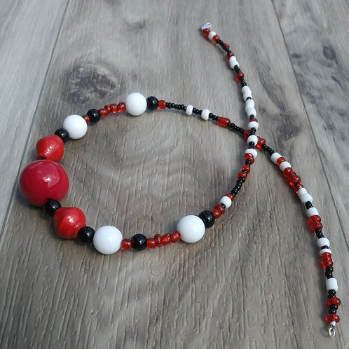 Red/White/Black Necklace