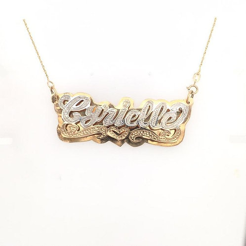 Real 3d Nameplate Only