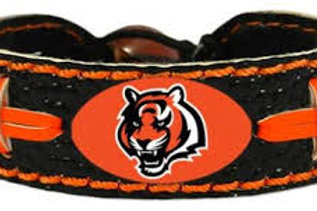 Bengals Colors Gameday Leather Bracelet