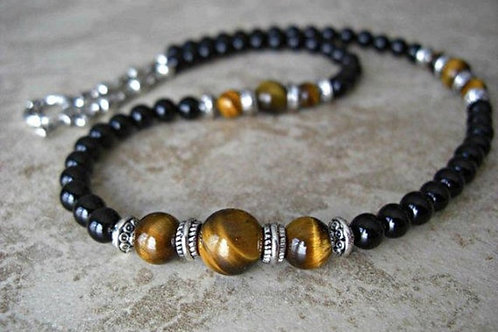 Short Tigers Eye Necklace