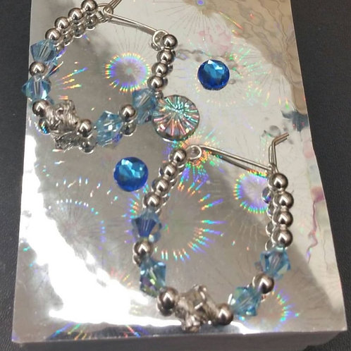 48 Aqua Sterling Silver, Made in Petersburg, VA