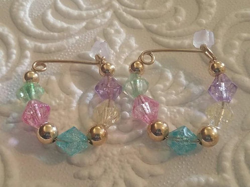 2. Cotton Candy Earrings