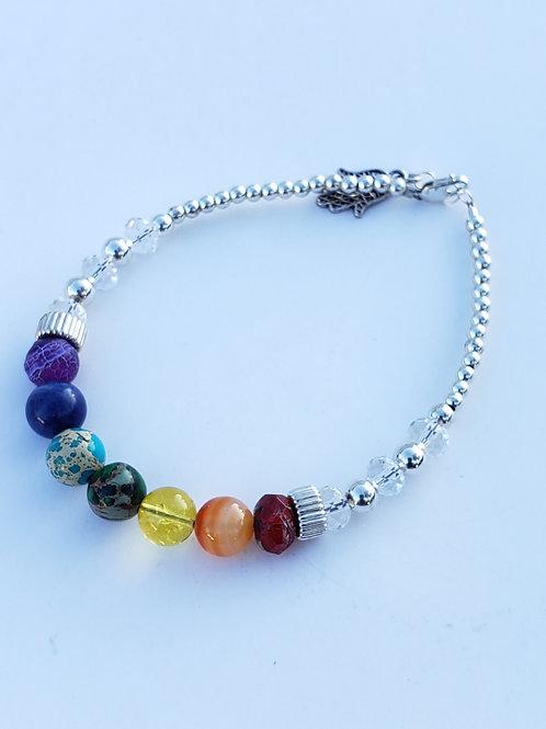 7 Chakras Balance Yoga Rainbow
