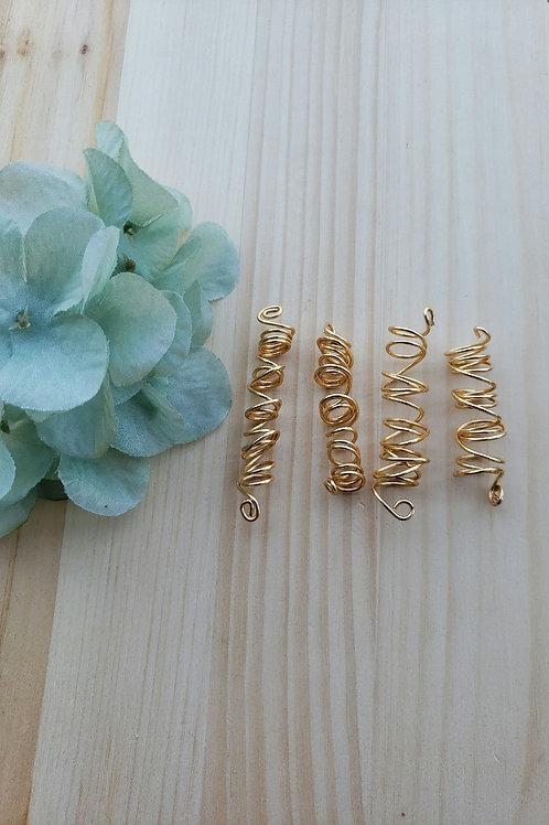 Loc jewelry  Gemstone Gold Copper Silver Messy Coil Dreadlock Braids
