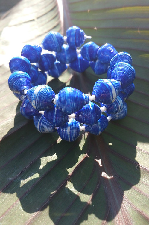 Blue Painted Wire Wrap