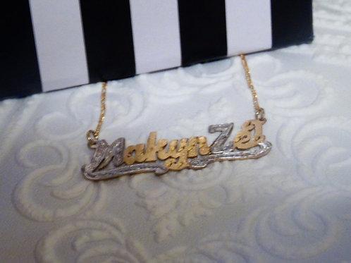 14k Gold OVERLAY Makyn'Ze
