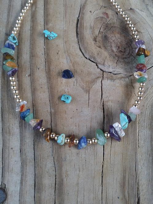 Multi stone Necklace, Made in Richmond, VA
