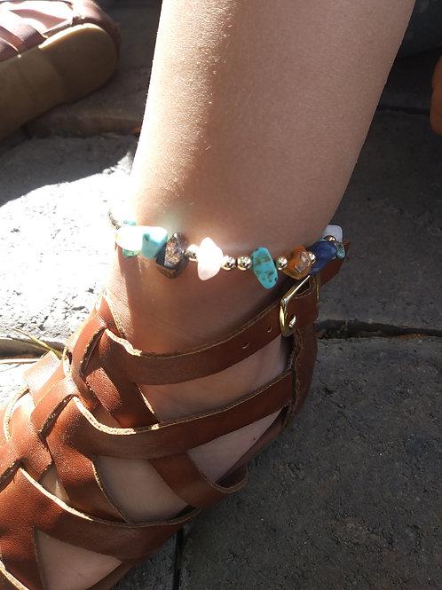 Infant Toddler Multistone Anklet
