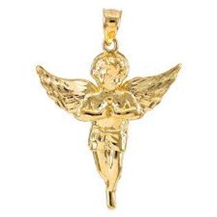 GOLD GUARDIAN ANGEL DIAMOND CUT