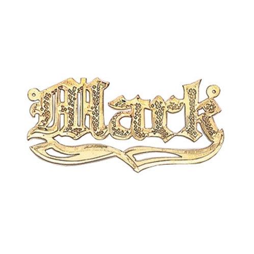 Mr. Mark/GOLD NAMEPLATE Necklace