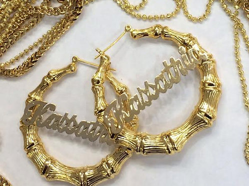 Bamboo Hoops 2in