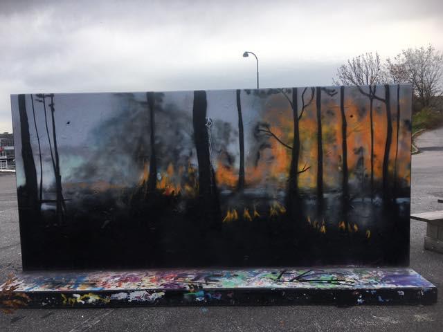 Maleri på Ytringsvegg