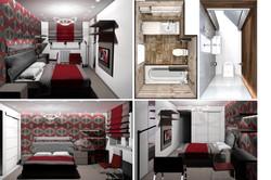 Квартира 60 кв.м / Спальня и санузлы