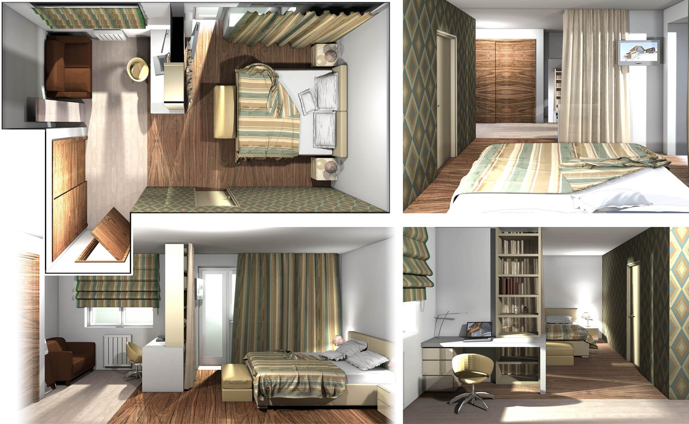 Квартира 100 кв.м / Спальня