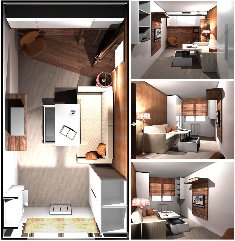 Квартира 100 кв.м / Гостевая комната