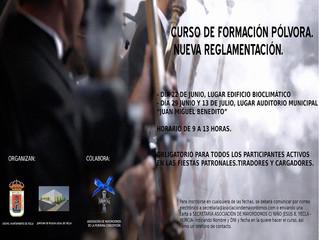 CURSO DE FORMACIÓN PÓLVORA. NUEVA REGLAMENTACIÓN ITC 26.