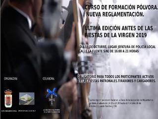 NUEVA Y ÚLTIMA EDICIÓN CURSO DE FORMACIÓN PÓLVORA. NUEVA REGLAMENTACIÓN ITC 26.