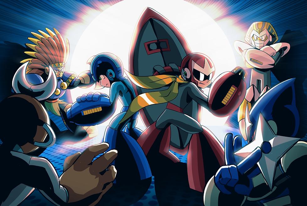 Mega Man Arena Wallpaper 1.1.png