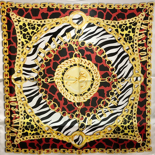 Moschino - Foulard in seta large