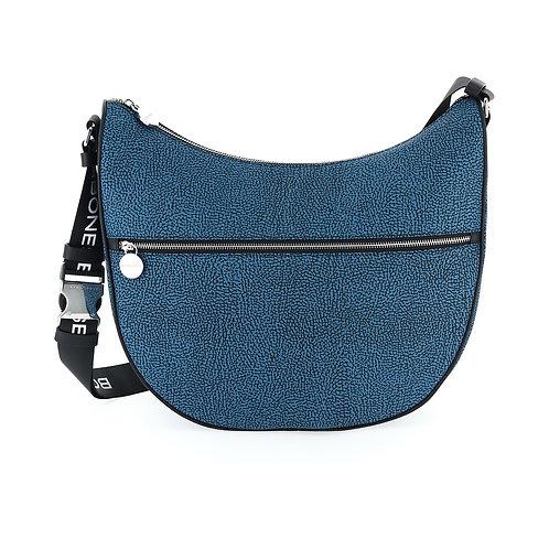 Borbonese - Luna Bag Medium in Jet OP