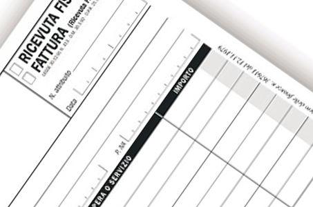 carta modulistica, blocchi ricevute fiscali milano