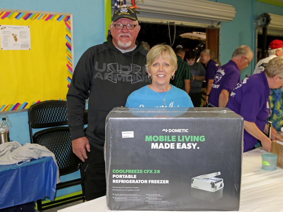 Grand Door Prize winners!  $800 Dometic portable refrigerator