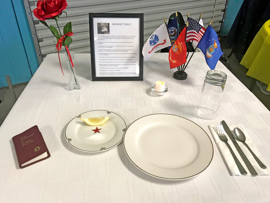 Honor Table