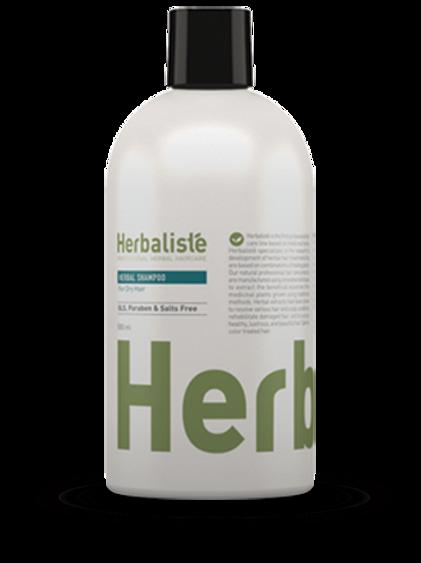 """שמפו צמחי ללא מלחים לשיער יבש 500 מ""""ל - הרבליסטה"""