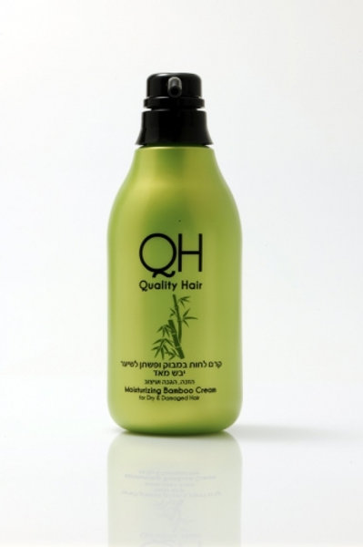 "QH - קרם לחות במבוק ופשתן לשיער יבש מאוד 500 מ""ל"