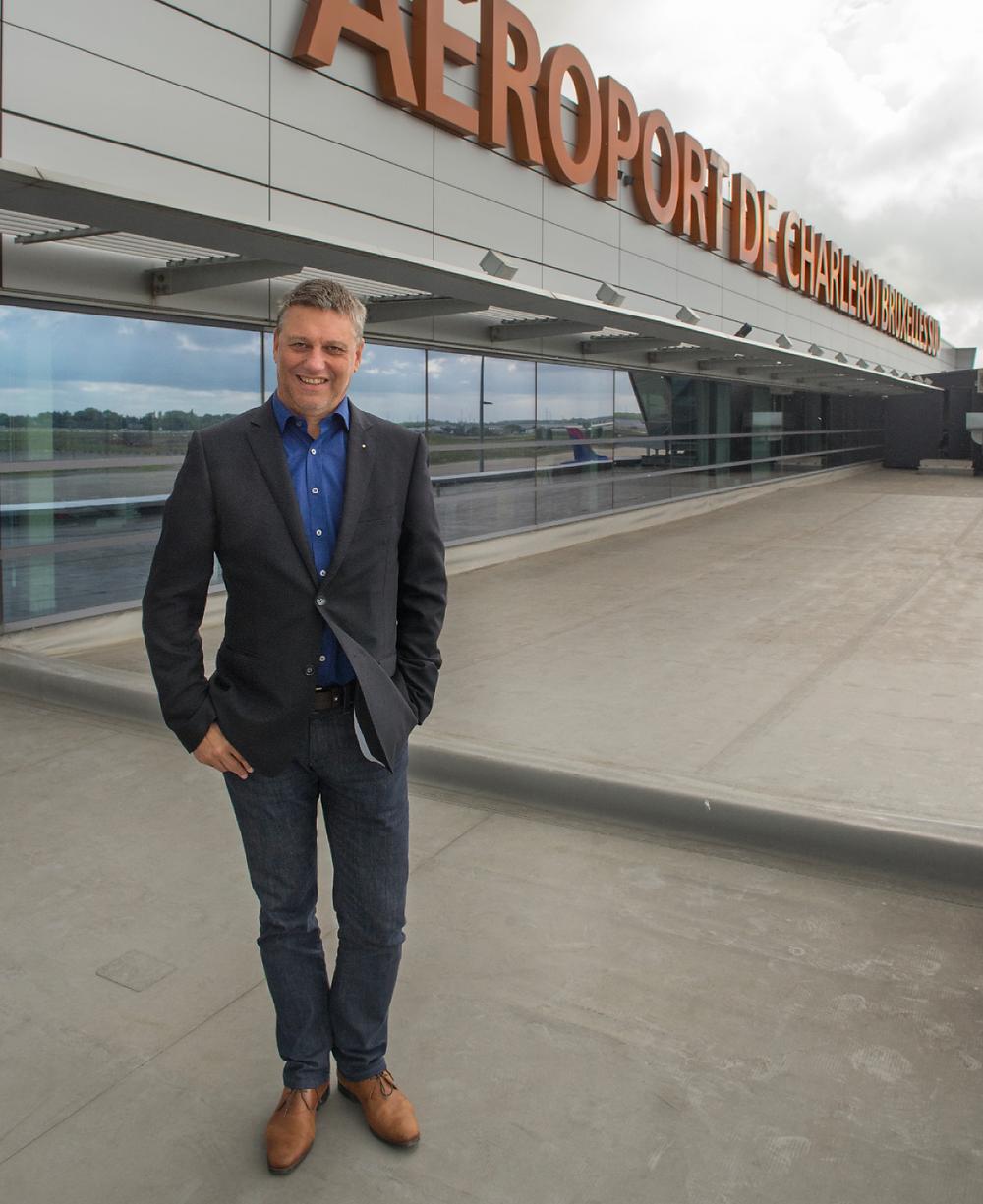 Denis Tellier, algemeen directeur financiën & administratie bij Brussels South Charleroi Airport