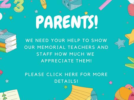 Help Needed for Staff Appreciation!