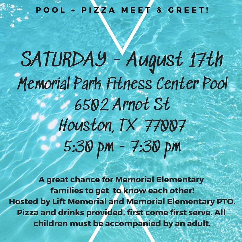 Meet and Greet with Pizza and Pool
