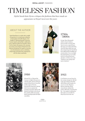 ROYAL ASCOT MAGAZINE - SKB COMMENTARY ON STYLE