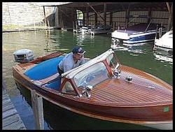 1958 Penn Yan Captivator runabout with a 1958 Evinrude 50 horsepower 4