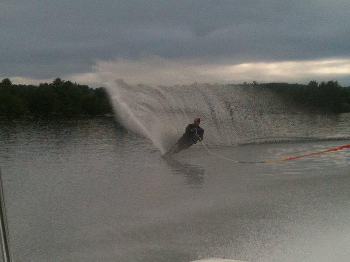 Jeff water skiing