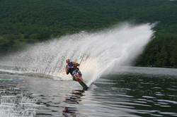 Jeff Frahm water skiing