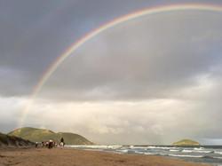 Arco-íris na praia do Moçambique