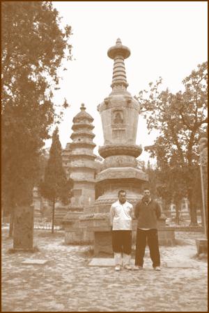 Canadian disciple at Shaolin